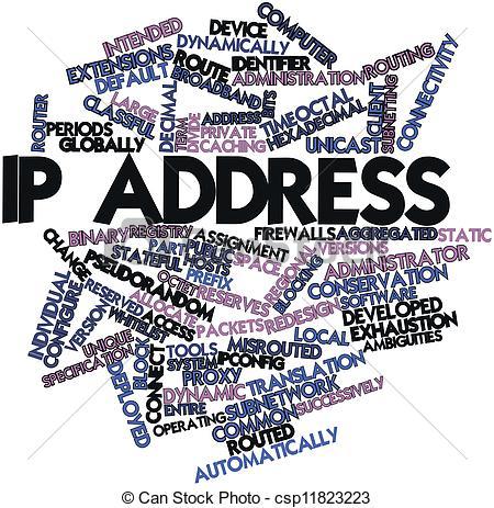 Clip Art of IP address.