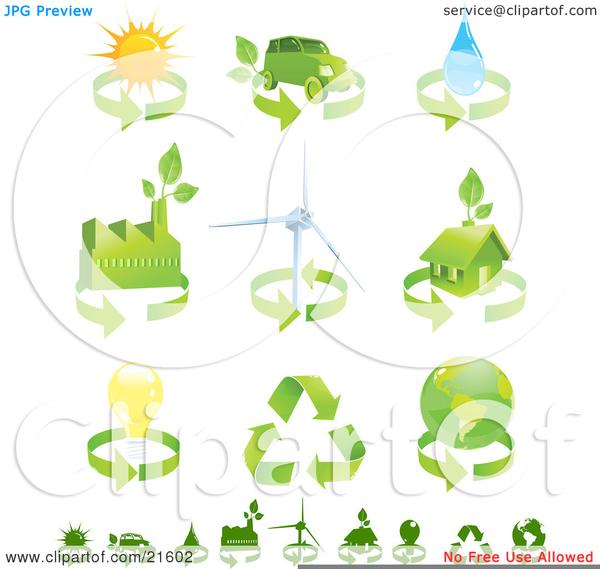 Renewable Resources Clipart.