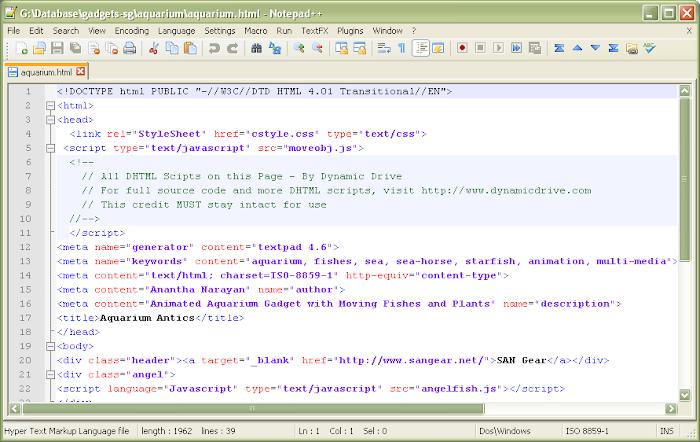 Notepad++ Green Editor Coders Delight.