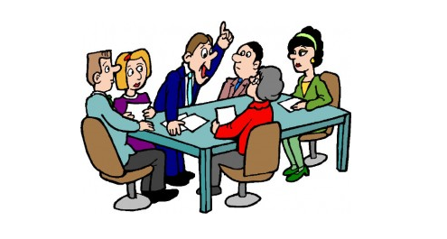 Clipart picture of business meeting
