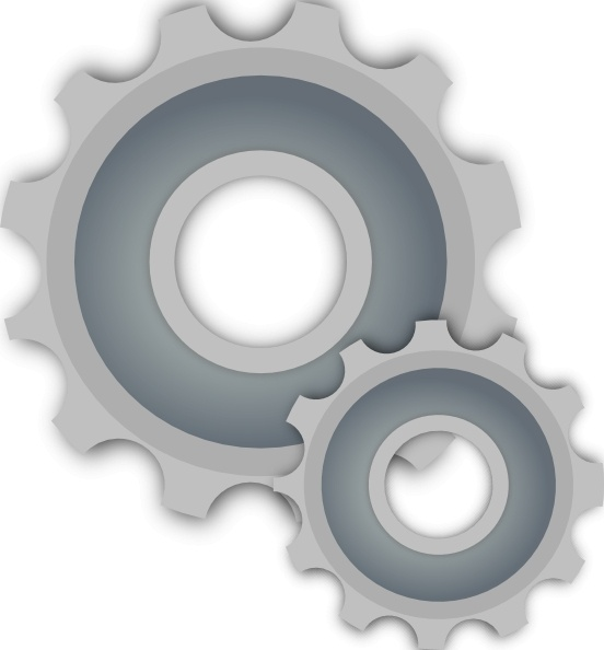 Gears clip art Free vector in Open office drawing svg ( .svg.