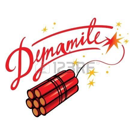dynamite: Dynamite bomb explosive blow terror fire sparks.