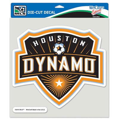 Houston Dynamo Primary Team Logo Die Cut Car Sticker MLS Decal 8 x 8  (Colored) 32085915870.
