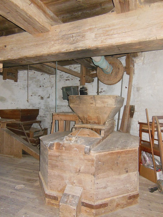 Free photo Old Windmill Old Profession Interior Dyrhave Mill.