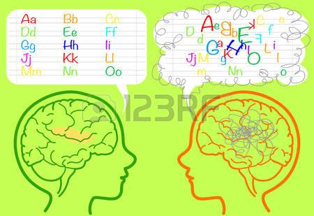 Dyslexia Brain Clipart.