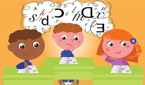 Dyslexia Clipart Image.