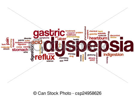 Clip Art of Dyspepsia word cloud concept csp24958626.