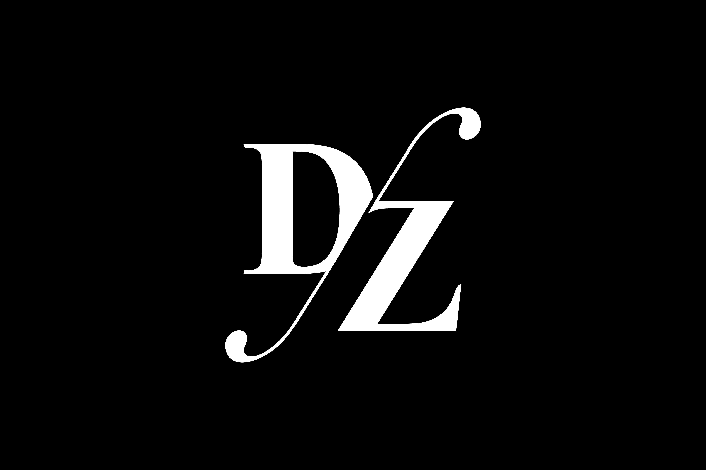 DZ Monogram Logo Design By Vectorseller.