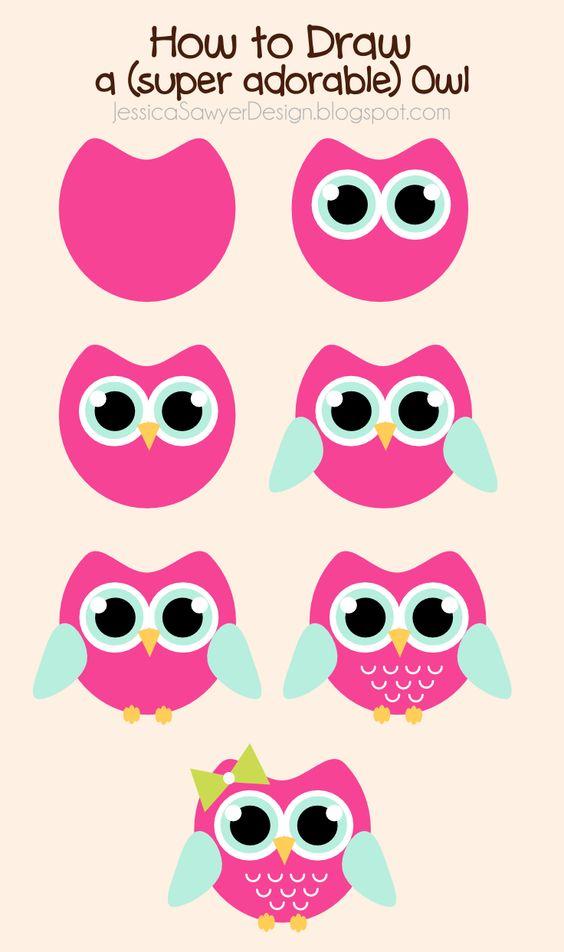 Jessica Sawyer Design: How to Draw an Owl + Free Owl Clipart.