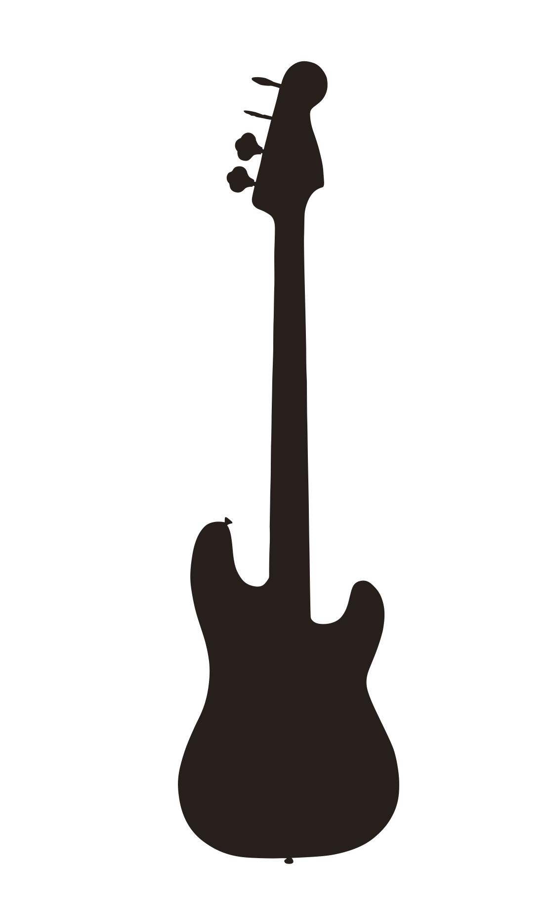 Bass Guitar Clipart.