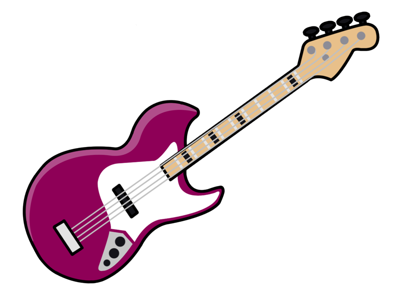 Green bass guitar clipart.