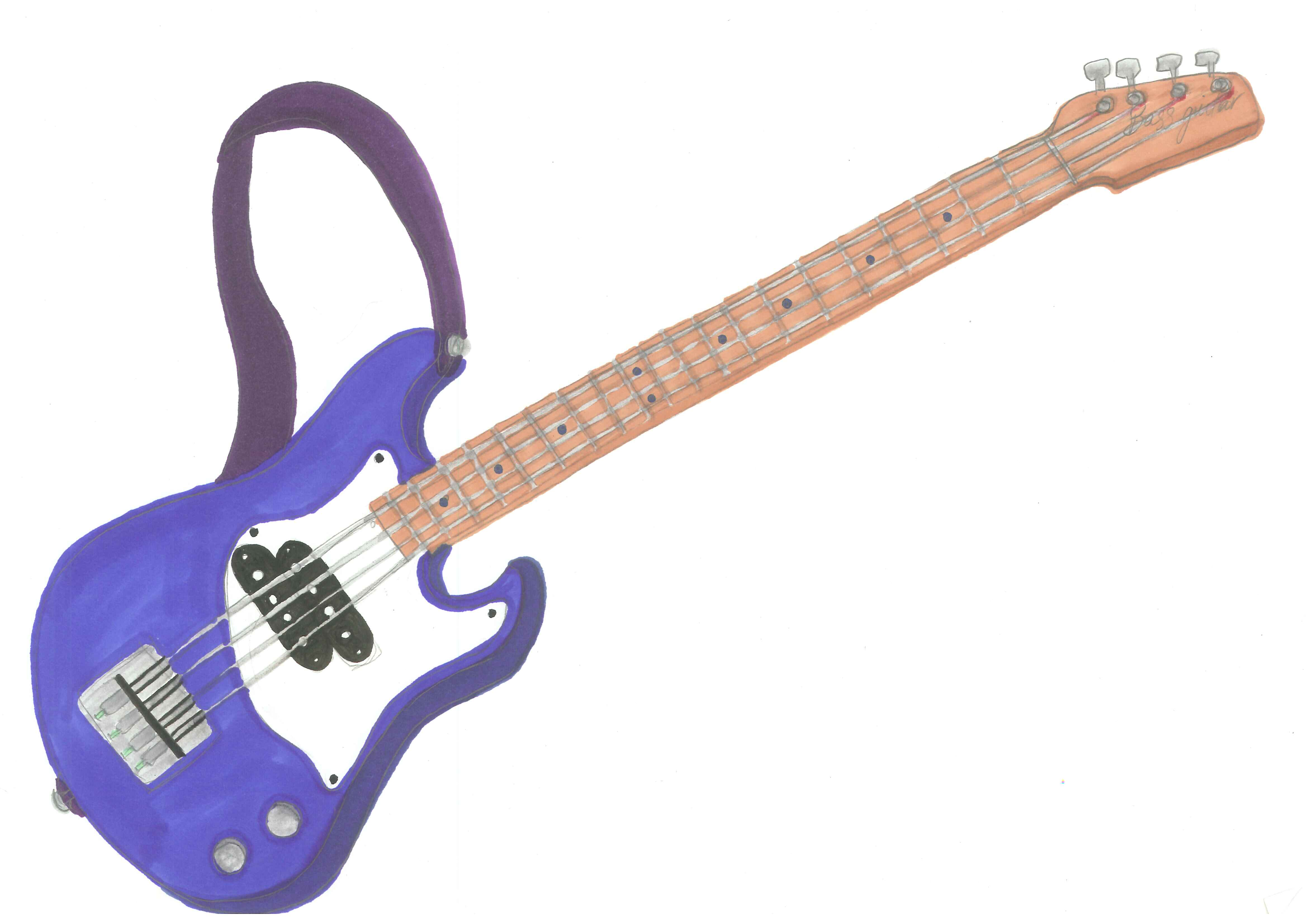 Guitare Clipart clipart of bass guitar outline - clipground