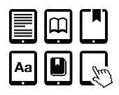 E Book Reader Clip Art.