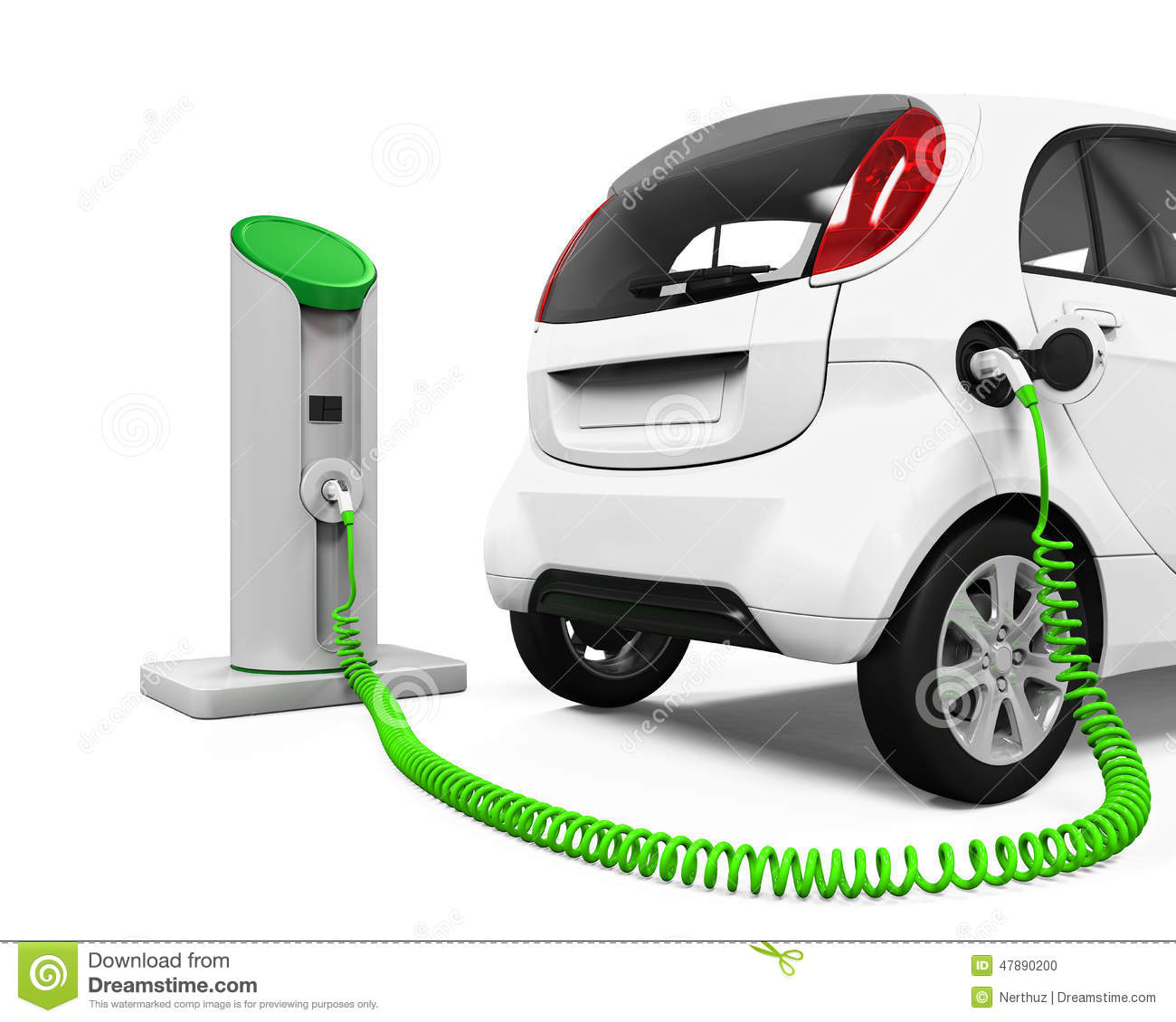 Electric car clipart no background.