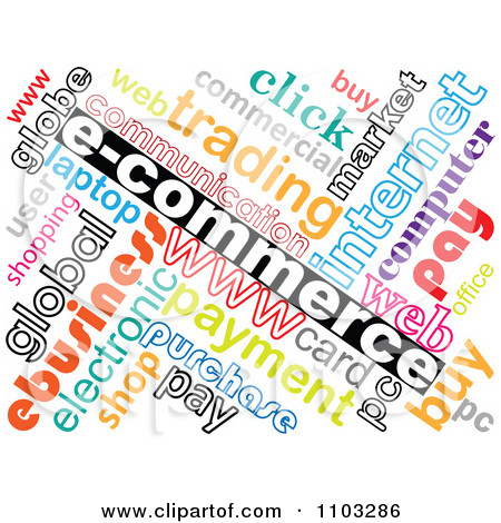 Clipart Collorful E Commerce Word Collage.