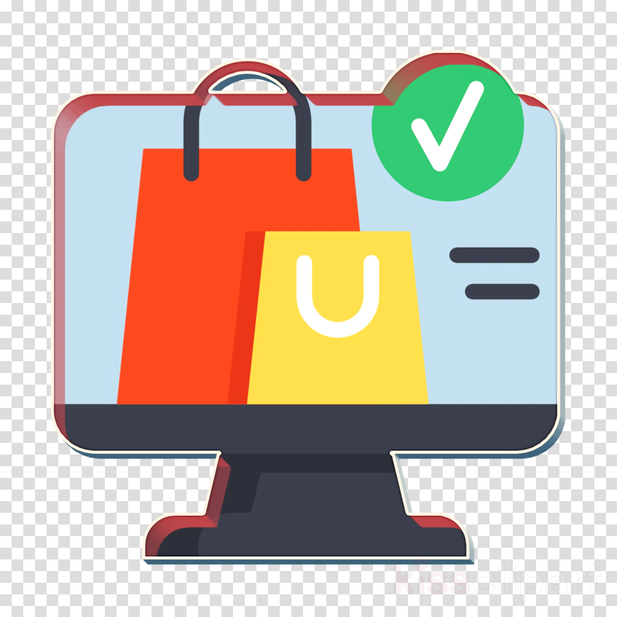 Shopping icon Shop icon Ecommerce icon clipart.