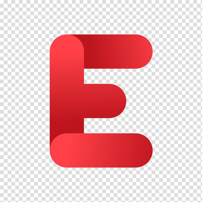 Red e illustration, Letter Icon, The red letter E.