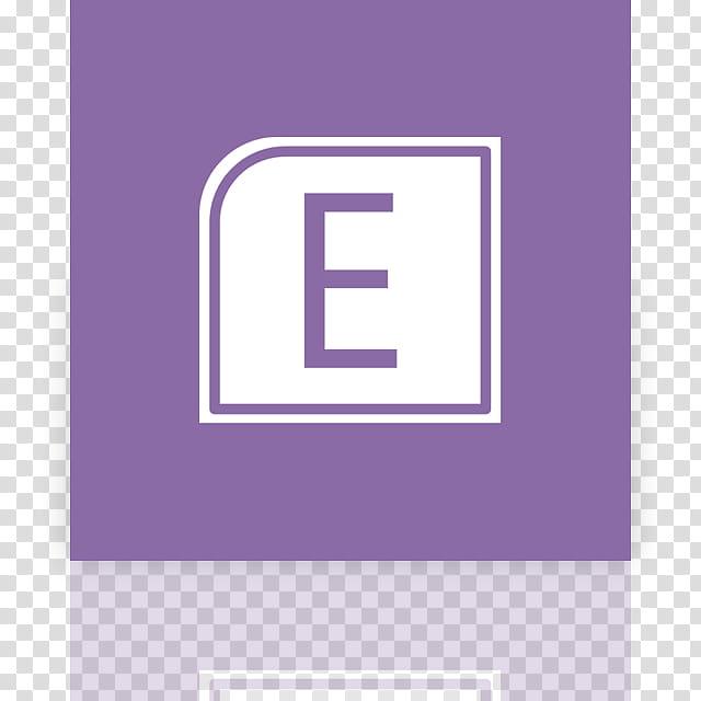 Metro UI Icon Set Icons, Entourage alt _mirror, white E icon.