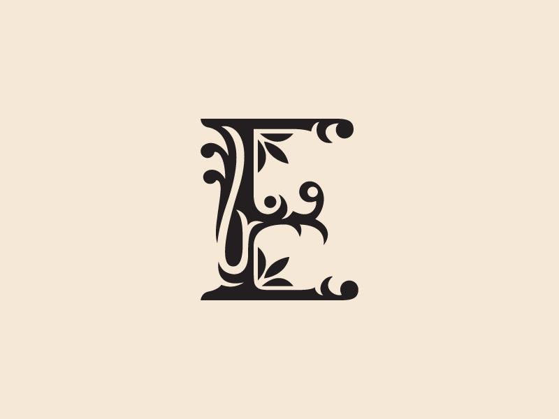 Letter E Florar Clipart by Heavtryq on Dribbble.