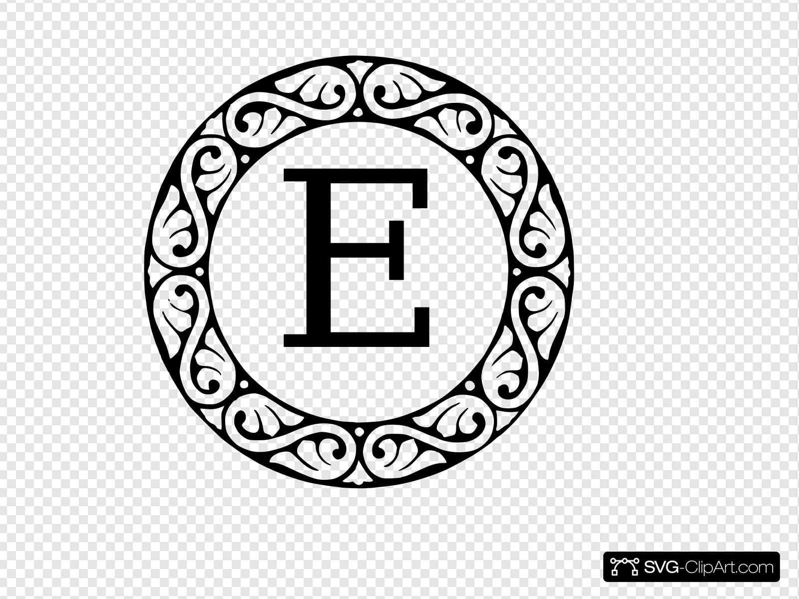 Monogram Letter E Clip art, Icon and SVG.