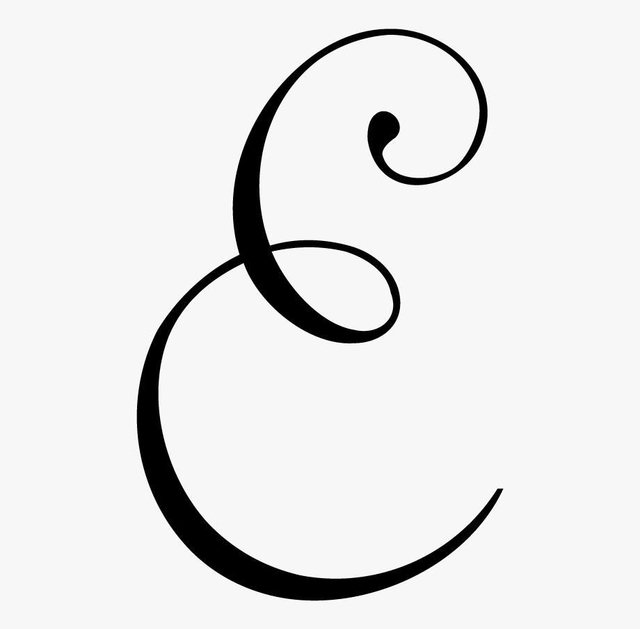 Monogram Letter E.