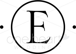 Monogram E Clipart.