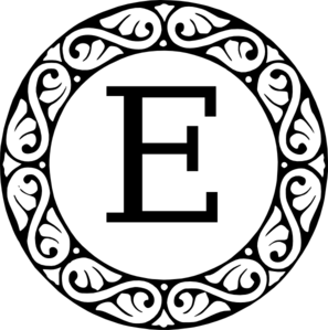 Monogram Letter E Clip Art at Clker.com.