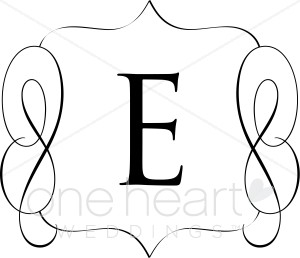 Classic Monogram E Clipart.