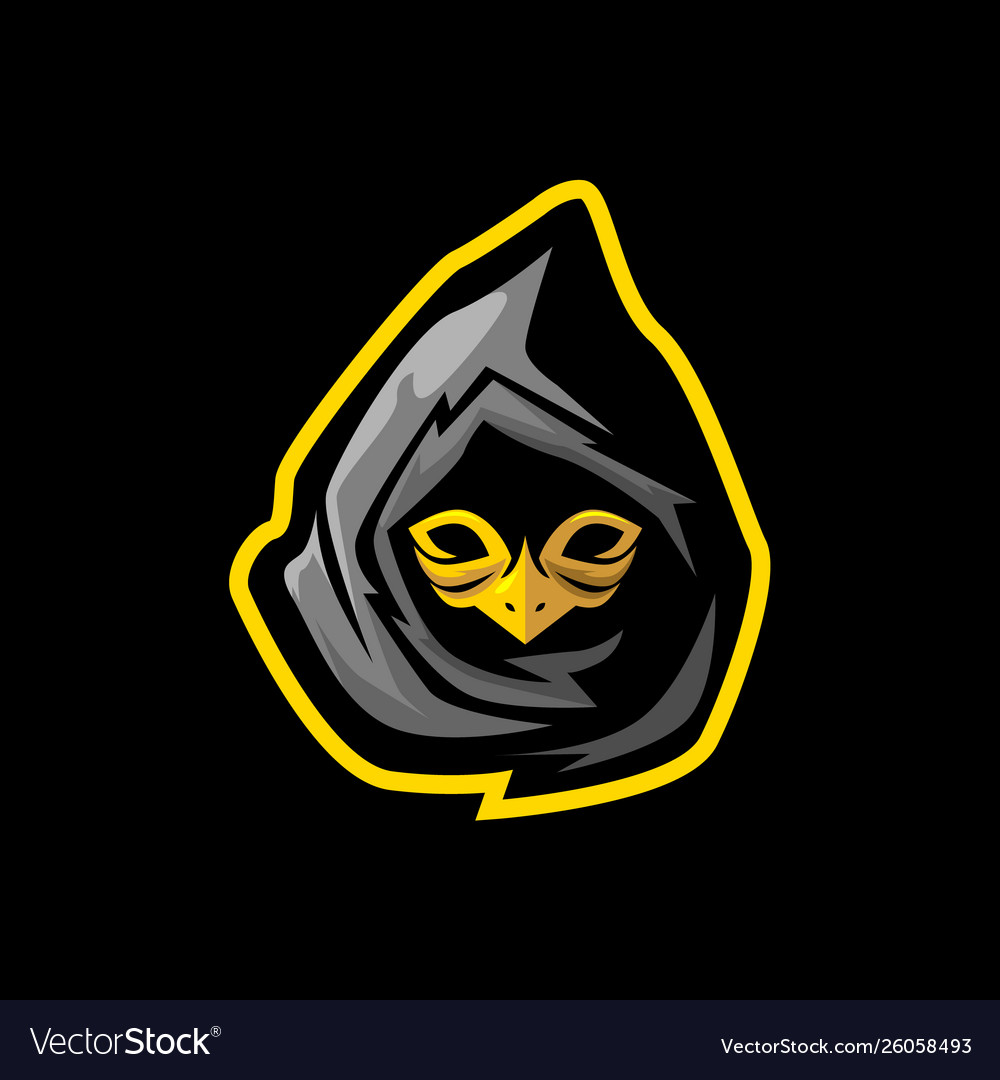 Ninja with bird mask gaming mascot or esports logo.