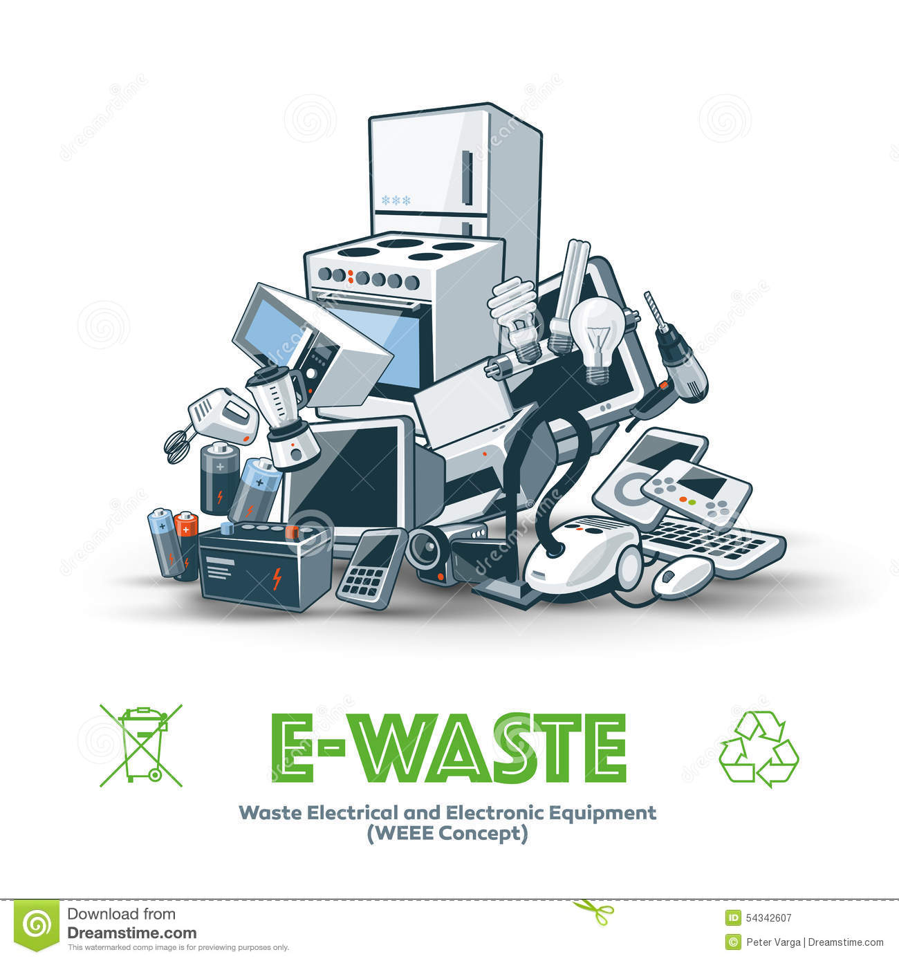 Electronic Waste Clip Art.