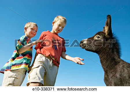 Stock Photography of Two six and eight year old boys want to.