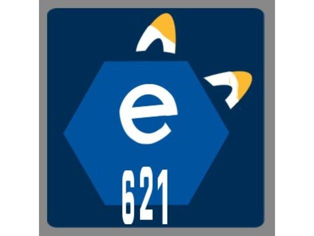 e621 logo 3d model by thatretroaussie.