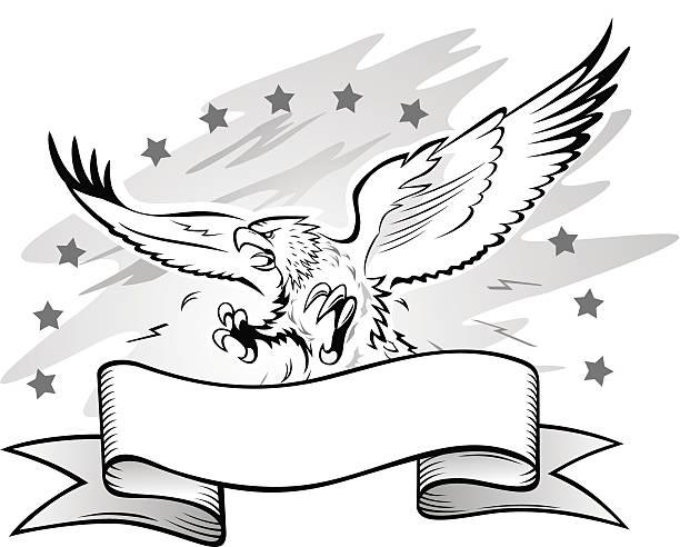Eagle Bird Banner Mascot Bald Eagle Clip Art, Vector Images.