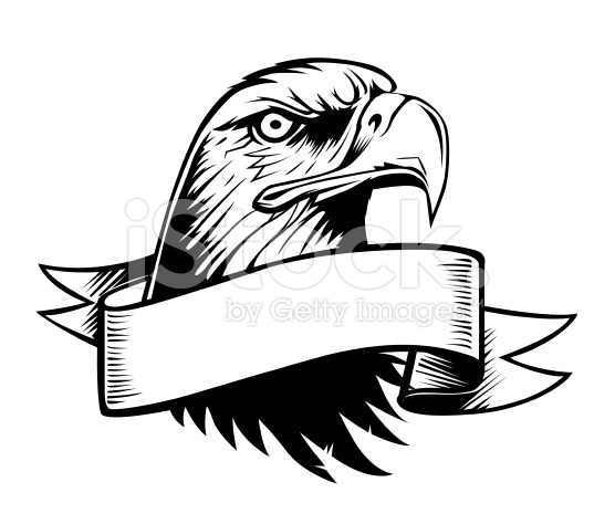 Proud Eagle and vintage Banner stock vector art 7114408.