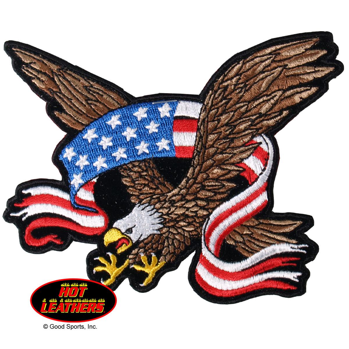 Eagle Patriotic Bald Mascot Flexing Arms Pencil Clipart.