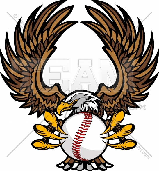 Baseball Eagle Clipart Image. Easy to Edit Vector Format..