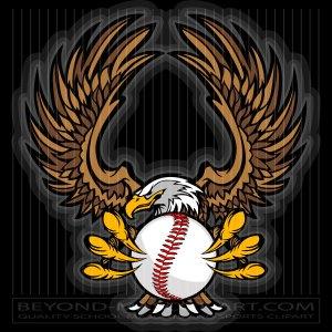 Eagle Softball Clipart.