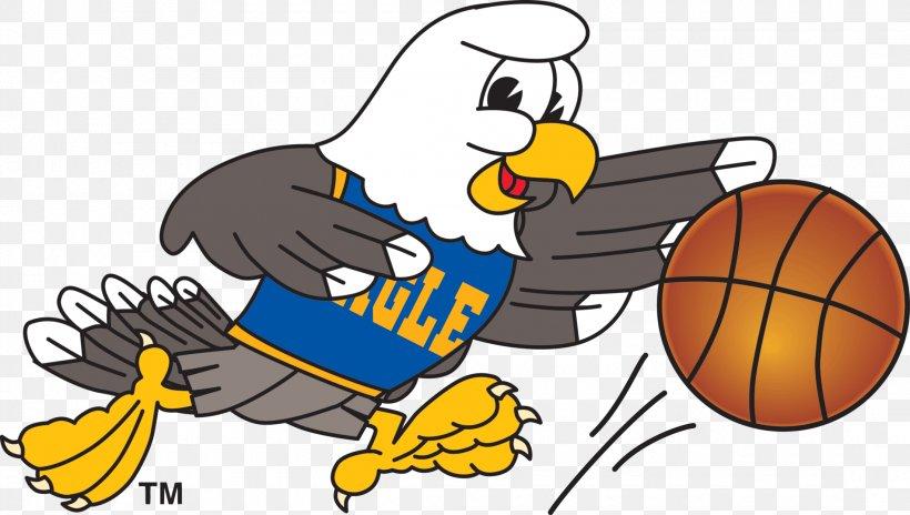 Bald Eagle Basketball Mascot Clip Art, PNG, 2200x1245px.