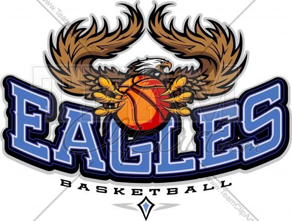 Eagles Basketball Clipart Vector Image.