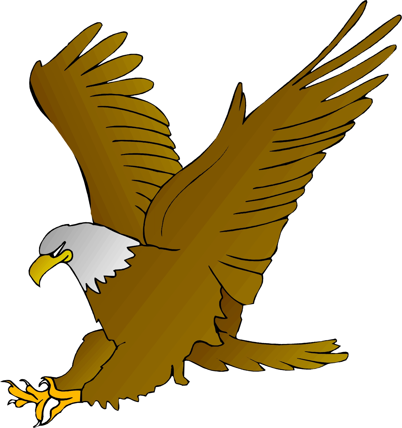 Cute Eagle Clipart.