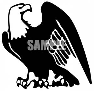 American Eagle Clip Art Black And White.