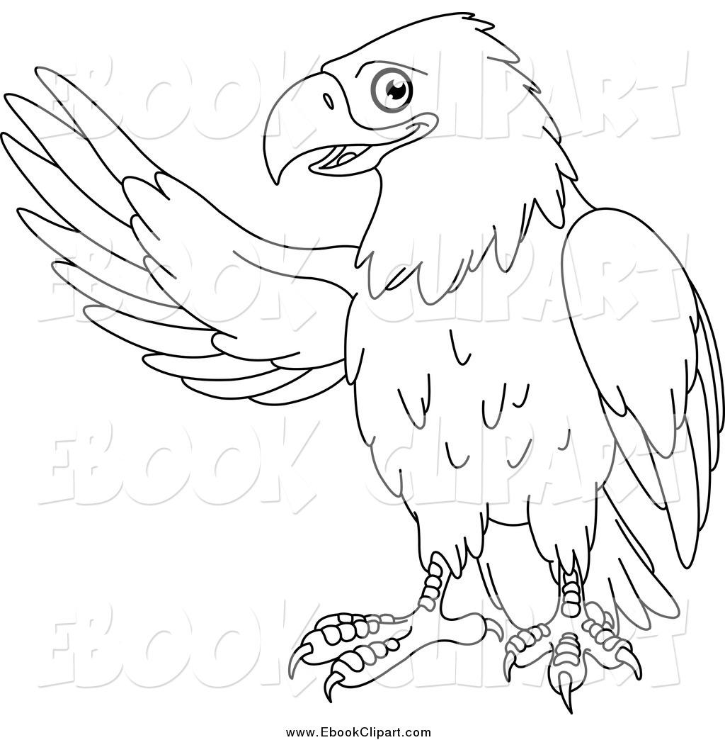 7611 Eagle free clipart.