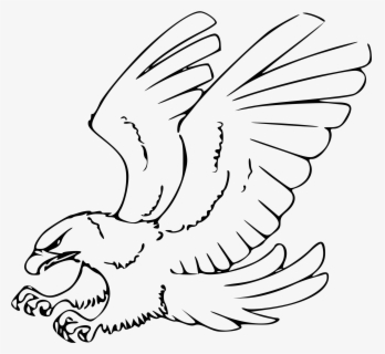 Free Eagle Black And White Clip Art with No Background.