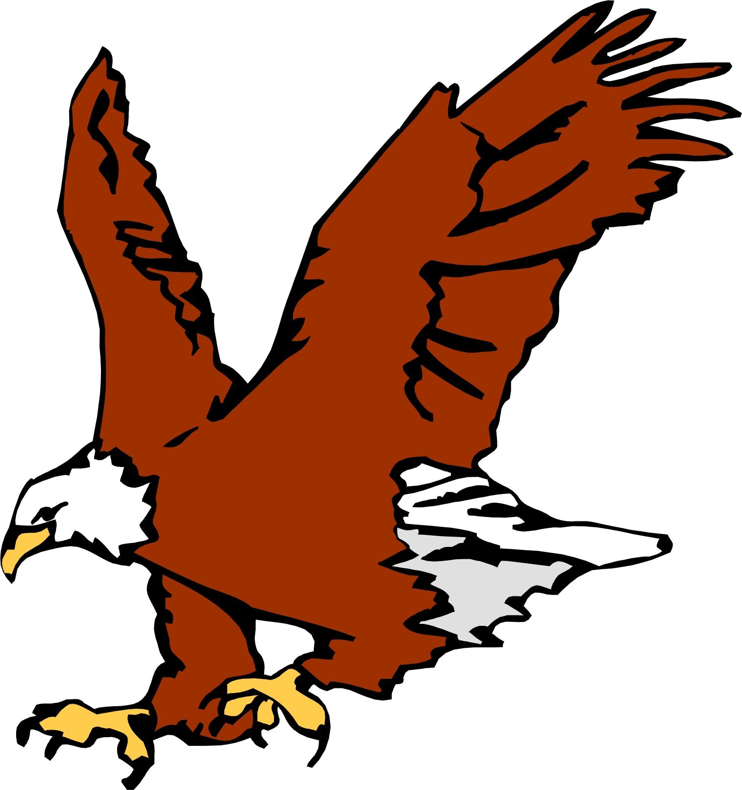 Cartoon eagle clipart.