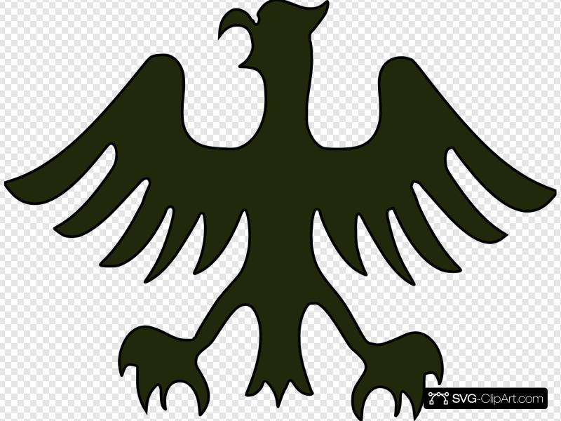 German Eagle Clip art, Icon and SVG.