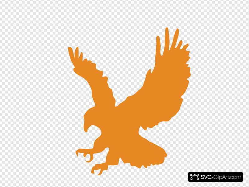 Orange Eagle Clip art, Icon and SVG.