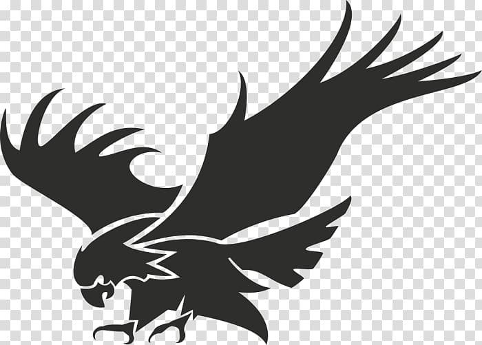 Logo Stencil, Eagle silhouette transparent background PNG.