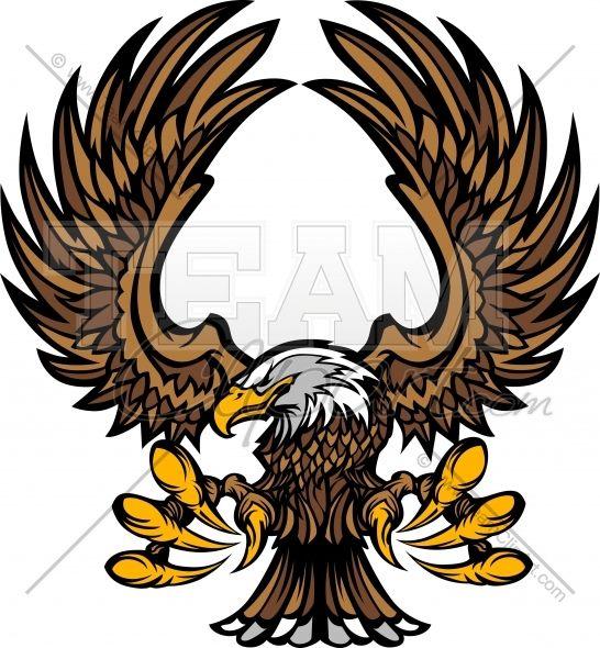 Eagle Clipart Mascot Graphic Vector Clipart Logo.