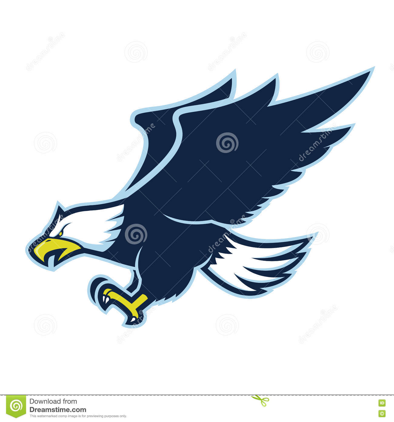 Flying eagle mascot stock vector. Illustration of carnivore.