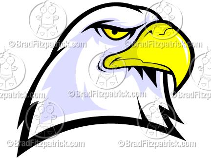 Bald Eagle Head Mascot Clipart.